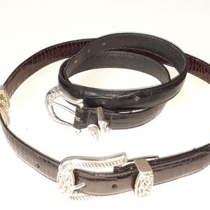 2PC Brighton belts Sz MED